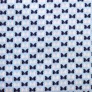 Estampa Laços Azul e Branco Fundo Azul Claro