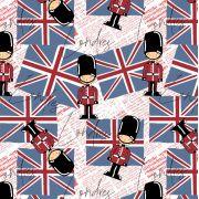 Estampa Londres Guarda Real Fundo Rosa