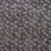 Estampa Micro Floral Cinza e Preto
