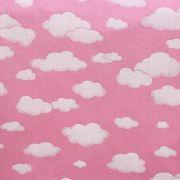 Estampa Nuvens Fundo Rosa