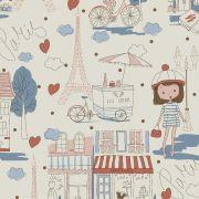 Estampa Paris Azul e Rosa