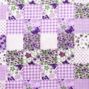 Estampa Patchwork Lilas