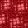 Tecido Tricoline Estampa - Poá Vermelho Bordô - 50cm X150cm
