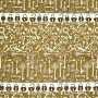 Estilotex - Chaves Cadeado Com Fundo Marrom  - 50cm x 150cm