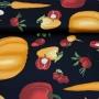 Tecido Tricoline 100% Algodão Estilotex - Estampa Legumes Big - 50cm x 150cm