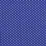 Tecido Tricoline Estampa - Poá Azul Bic - 50cm X150cm