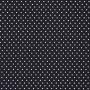 Tecido Tricoline Estampa - Poá Preto e Branco - 50cm X150cm