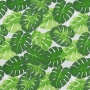 Tecido Tricoline Estampado - Costela de Adão Fundo Branco - 50cm X150cm