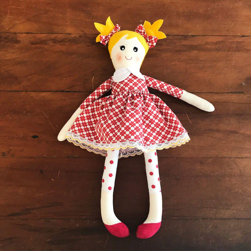 Boneca de tecido customizável - Sob encomenda