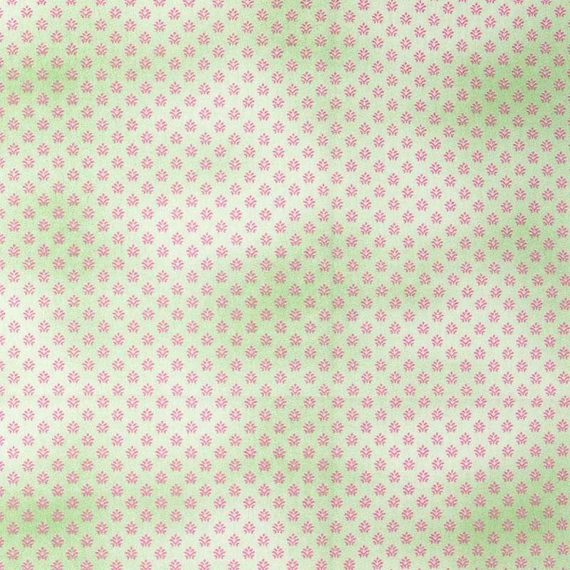 Caldeira - Arabesco Mini Poeira Com Fundo Verde - 50cm x 150cm