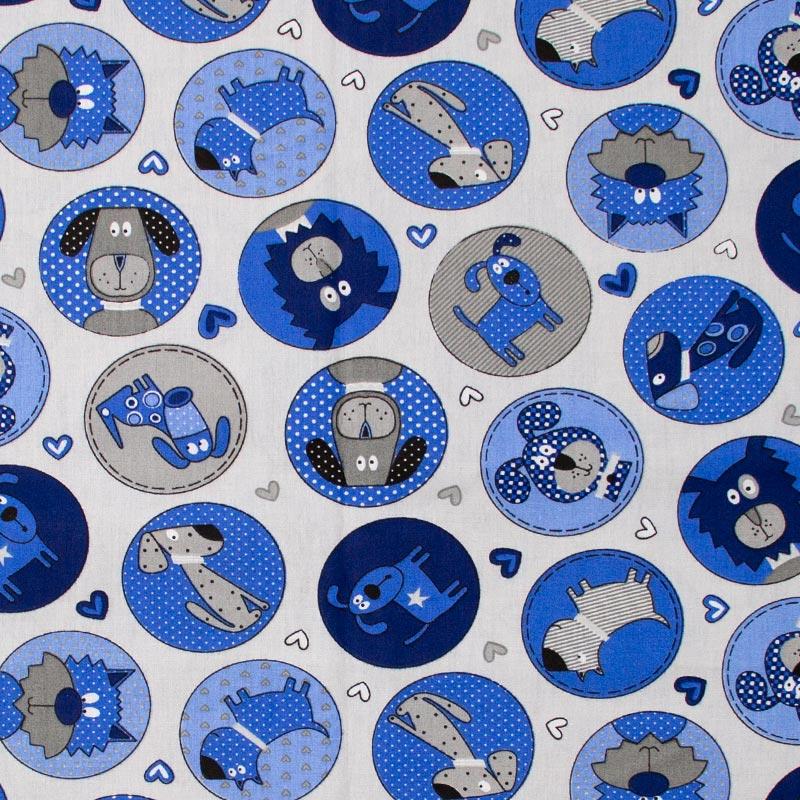 Caldeira Coleção Pets - Estampa Cut Dog Cinza - 50cm x 150cm
