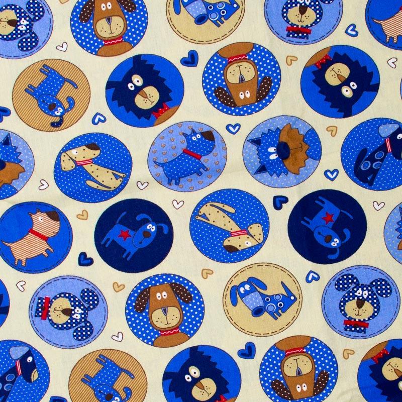 Caldeira Coleção Pets - Estampa Cut Dog Begee - 50cm x 150cm
