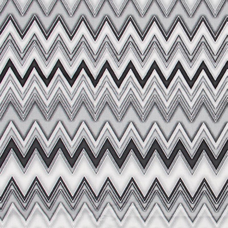 Caldeira - Chevron Cinza/Branco - 50cm x 150cm