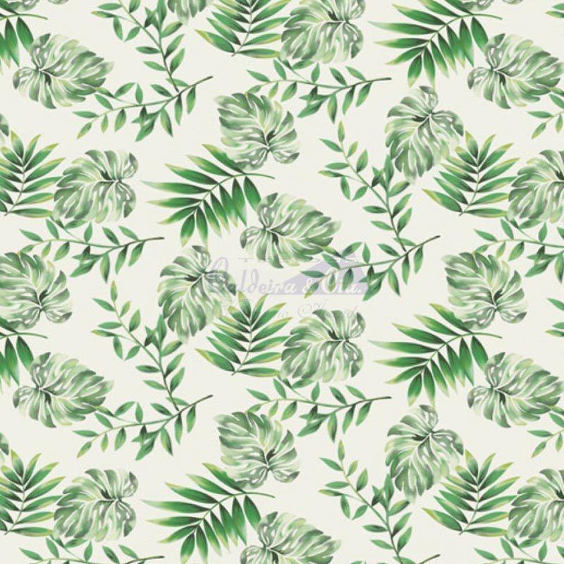 Caldeira Coleção Botanicals - Estampa Costela de Adão Verde - 50cm x 150cm