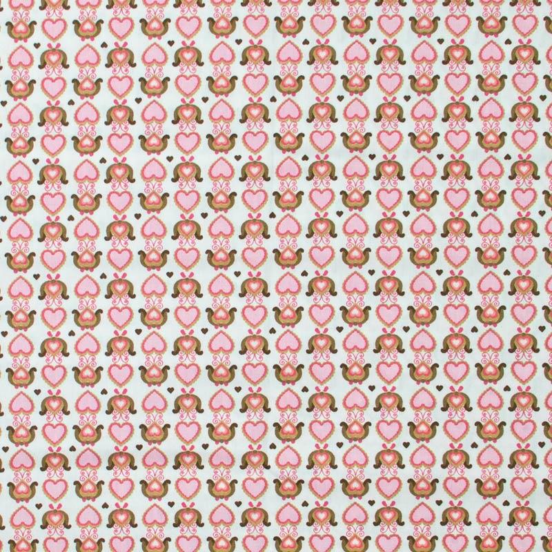Caldeira - Corações Arabesco Rosa - 50cm x 150cm