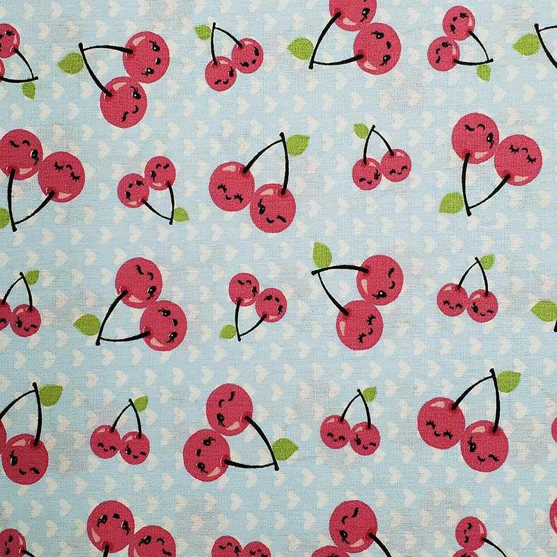 Caldeira - Estampa Cerejinhas Rosa - 50cm x 150cm