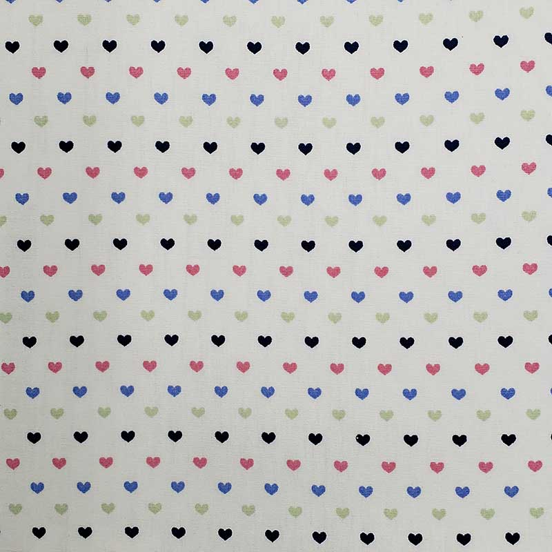 Caldeira - Estampa Corações Coloridos - 50cm x 150cm