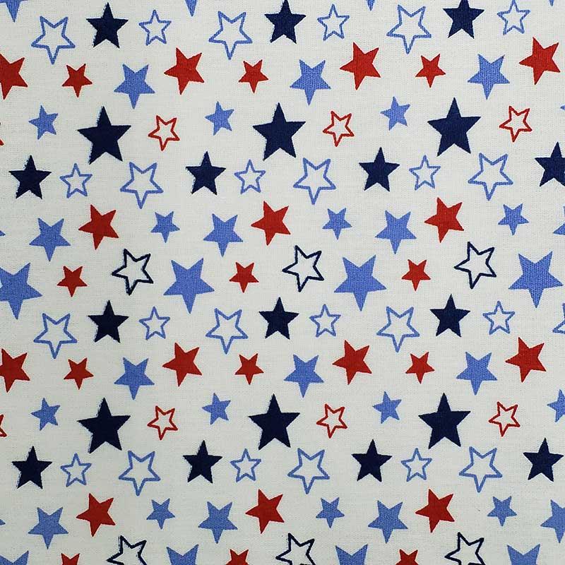 Caldeira - Estampa Estrelas Vermelho e Azul - 50cm x 150cm