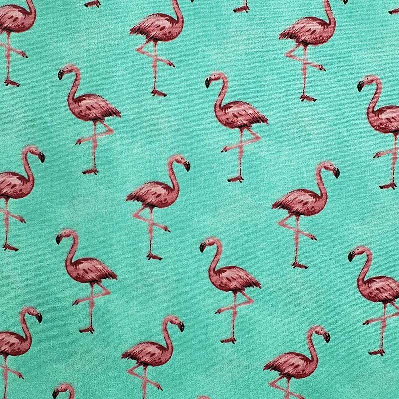 Caldeira - Estampa Flamingo Fundo Tifanny - 50cm x 150cm