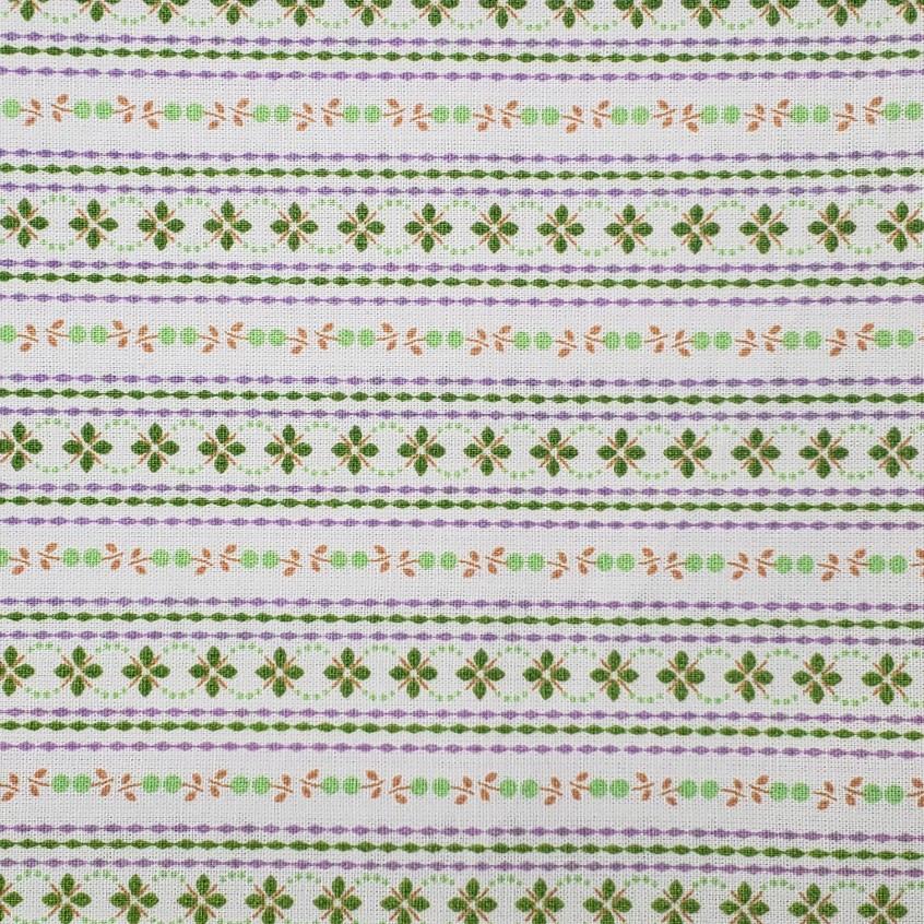 Caldeira - Estampa Floral Listrado Verde - 50cm x 150cm
