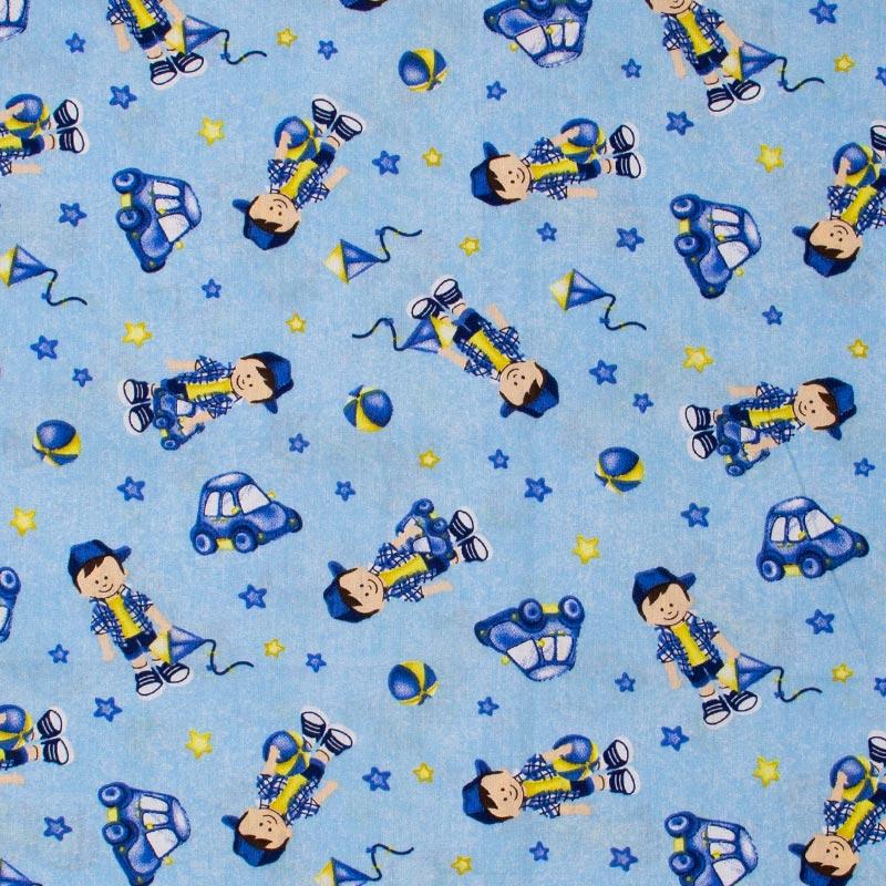 Caldeira - Estampa Joãozinho Cor Azul - 50cm x 150cm