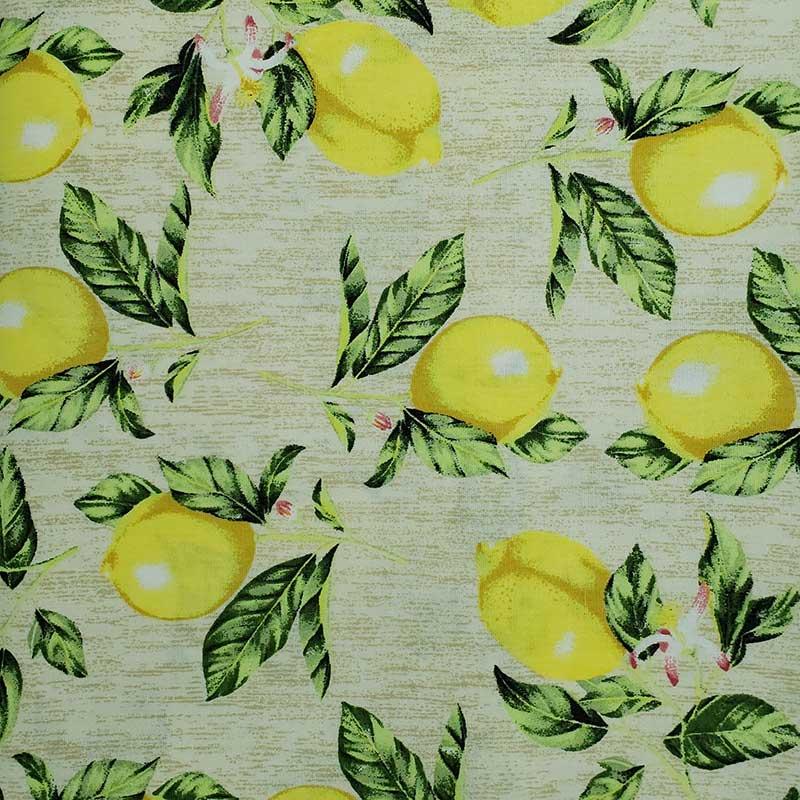 Caldeira - Estampa Limão Fundo Bege - 50cm x 150cm