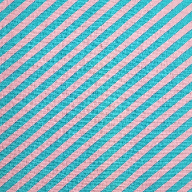 Caldeira - Estampa Listrado Azul e Rosa - 50cm x 150cm