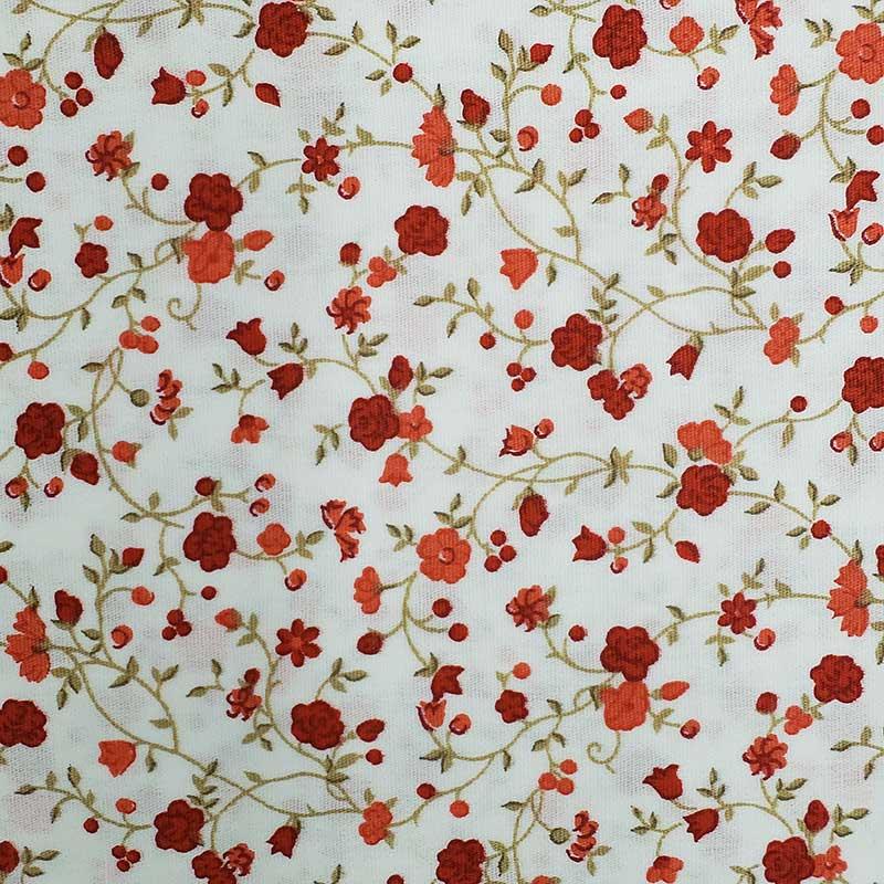 Caldeira - Estampa Mini Floral Vermelho - 50cm x 150cm