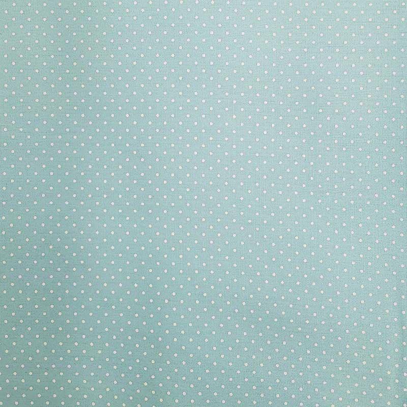 Caldeira - Estampa Poá Fundo Azul Claro - 50cm x 150cm