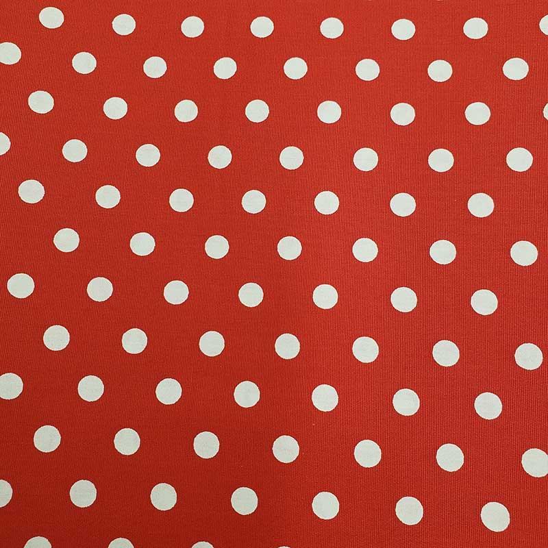 Caldeira - Estampa Poá Grande Vermelho - 50cm X150cm