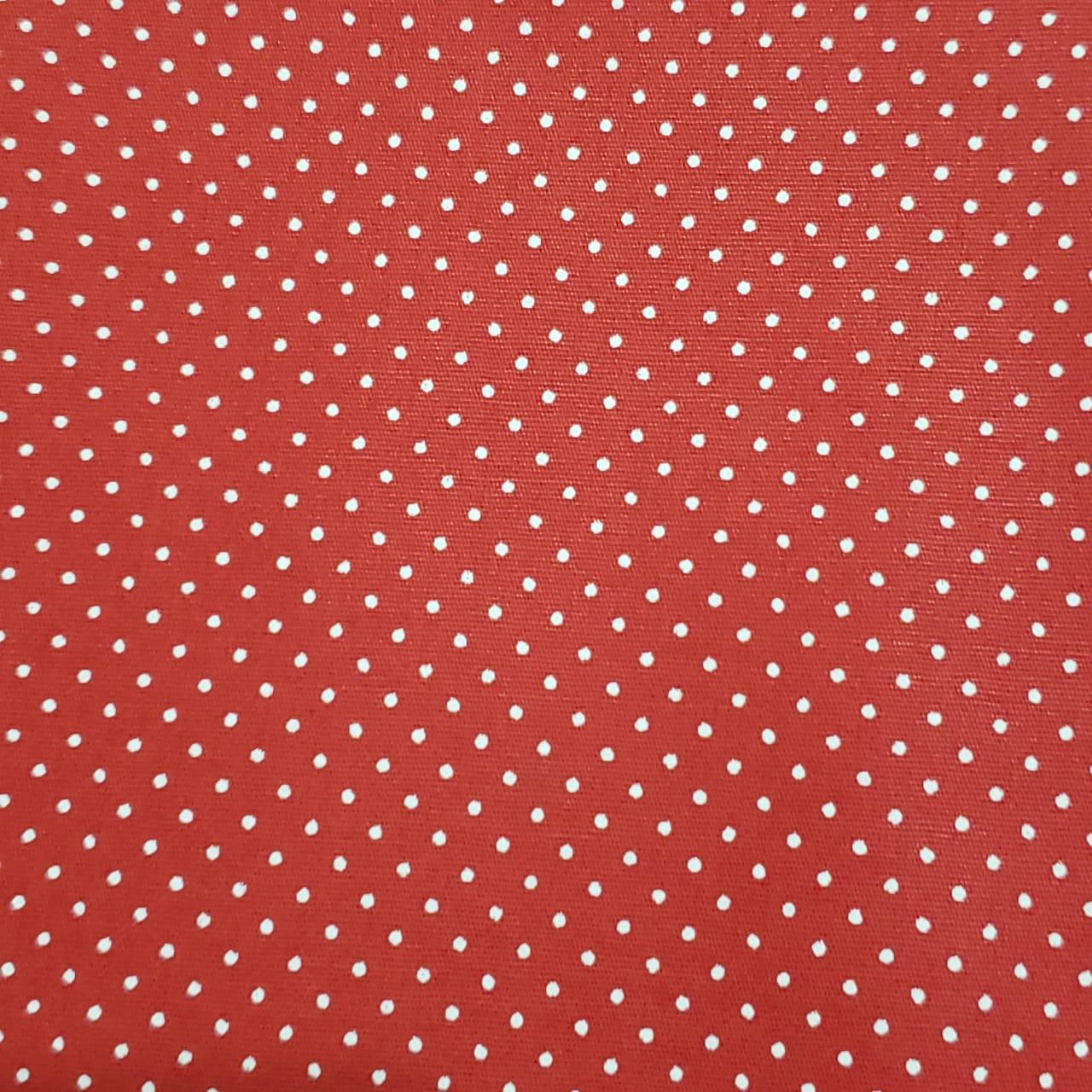 Caldeira - Estampa Poá Vermelho - 50cm X150cm