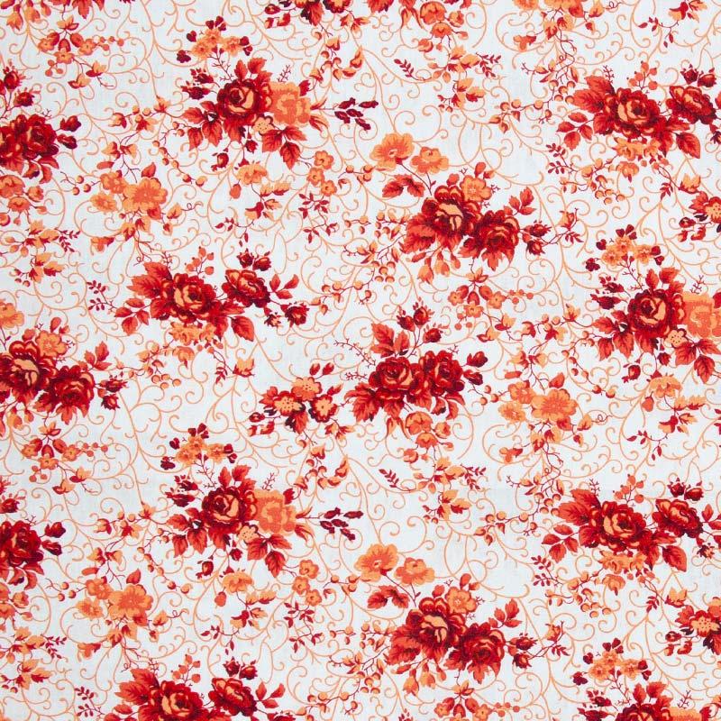 Caldeira - Floral Arabesco Vermelho - 50cm x 150cm