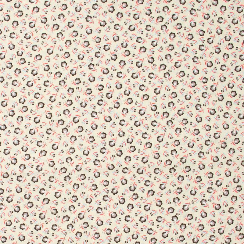 Caldeira - Floral Cinza Com Fundo Rosas - 50cm x 150cm
