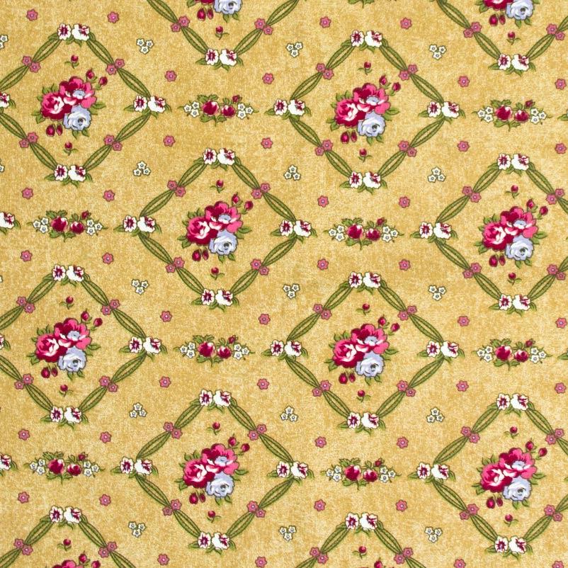 Caldeira - Floral Com Fundo Marrom - 50cm x 150cm