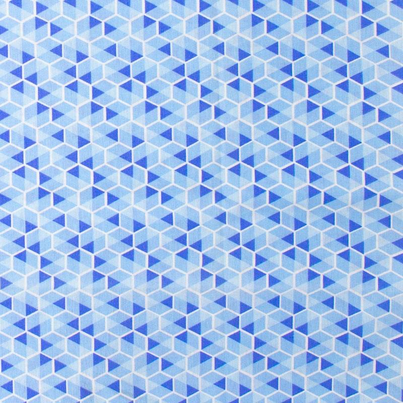 Caldeira - Hexágono Com Estampa Azul  - 50cm x 150cm