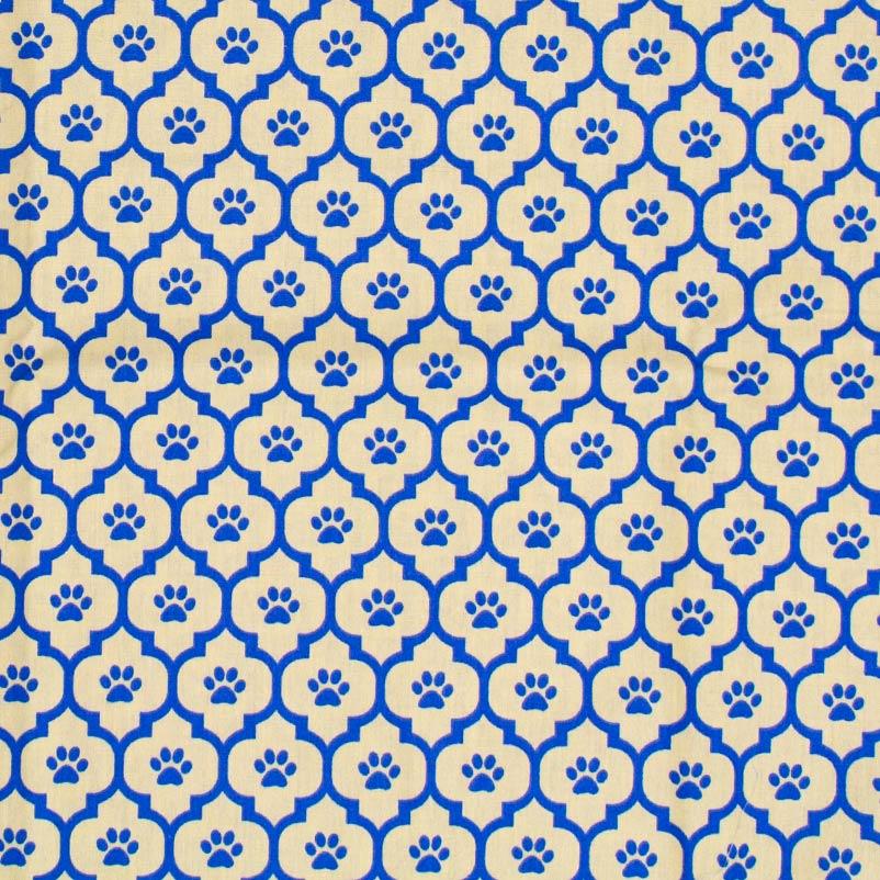 Caldeira - Ladrilho Bege Com  Patinha Azul - 50cm x 150cm