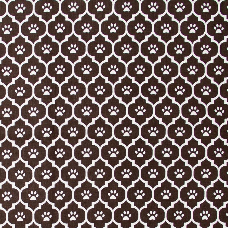Caldeira - Ladrilho Marrom Com Patinhas Branco - 50cm x 150cm