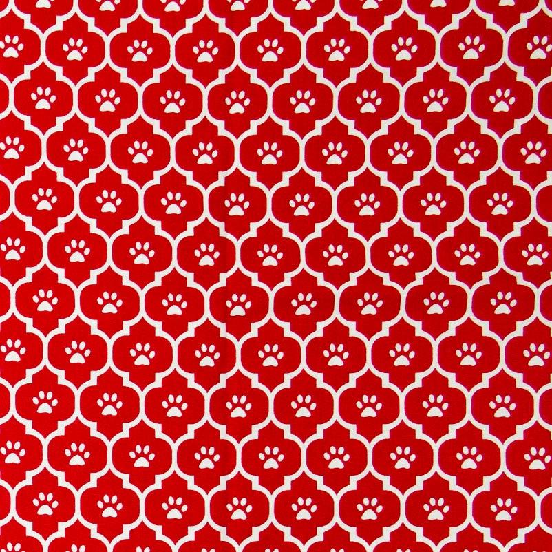 Caldeira - Ladrilho Vermelho Com Patinha Branco - 50cm x 150cm