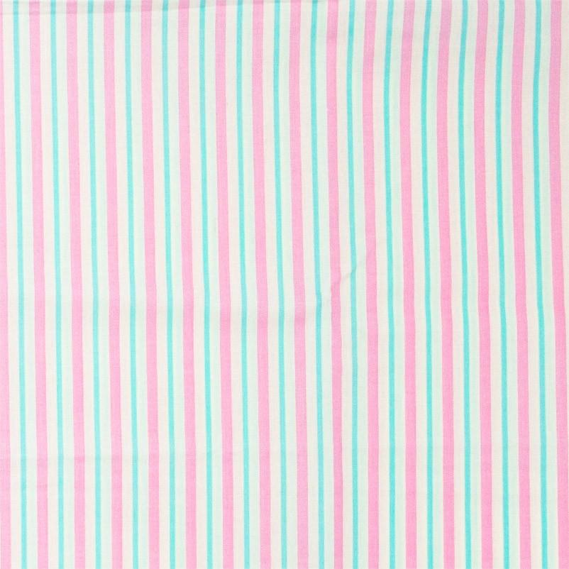 Caldeira - Listrado Rosa/Tiffany - 50cm x 150cm