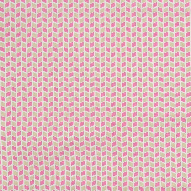 Caldeira - Losangos Rosa/Marrom - 50cm x 150cm