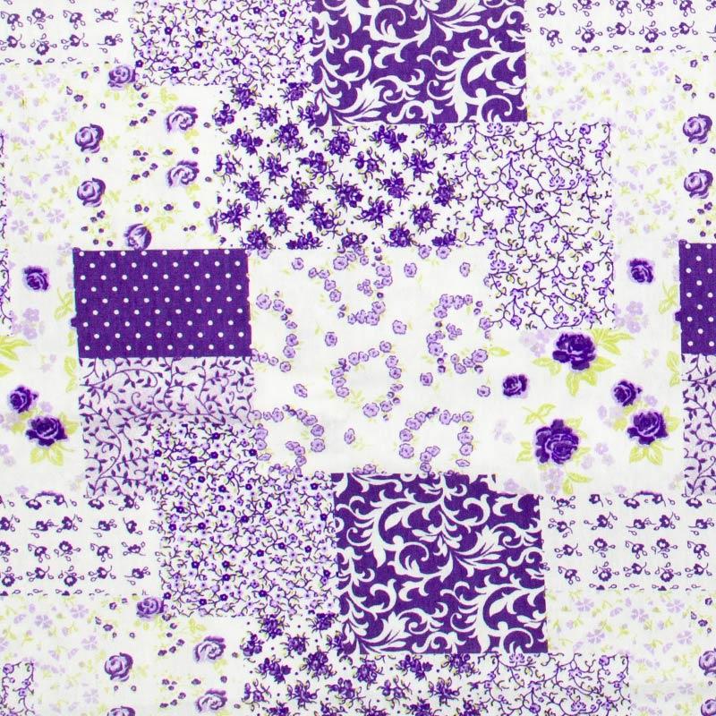 Caldeira - Patch Floral Roxo - 50cm x 150cm