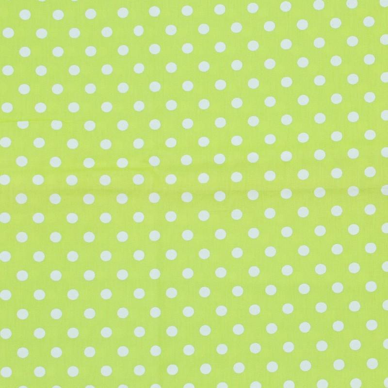 Caldeira - Poá Branco Com Fundo Verde Abacate - 50cm x 150cm