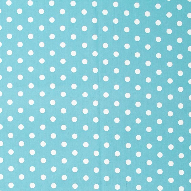 Caldeira - Poá Branco Grande Com Fundo Azul - 50cm x 150cm