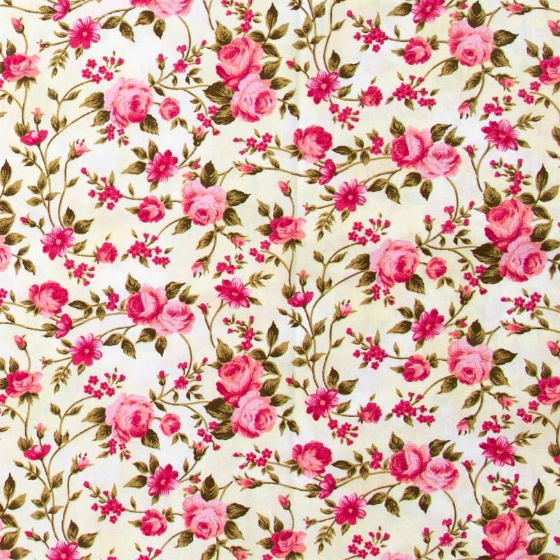 Caldeira - Rosas Rose Com Fundo Bege - 50cm x 150cm