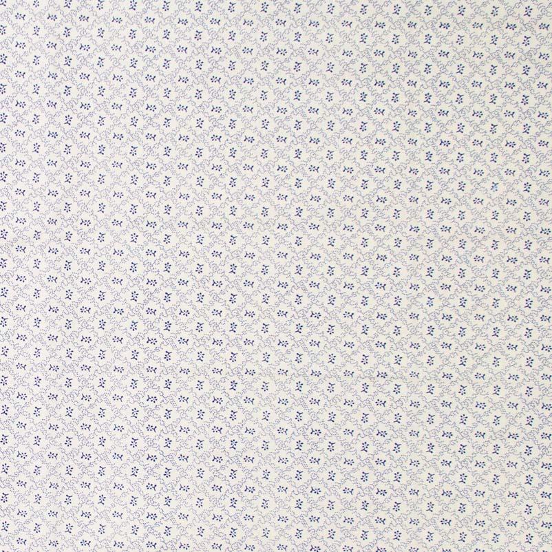 Caldeira - Xadrez/Florzinha Com Fundo Branco - 50cm x 150cm