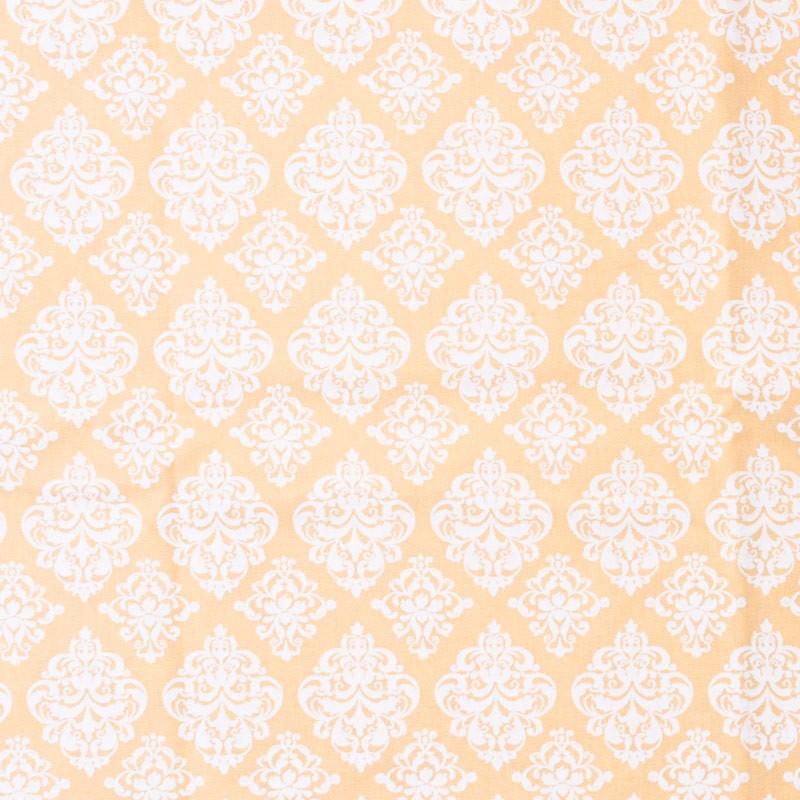 Arabesco Branco Com Fundo Rosa - 50cm X150cm