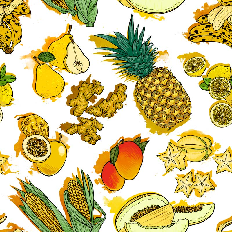 Casa Criativa Coleção Fartura - Fartura Amarelo - 50cm X150cm