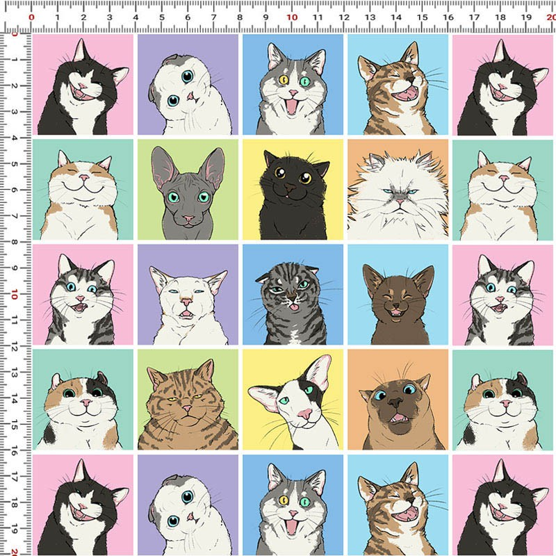 Casa Criativa Coleção Mi Pets - Cats - 50cm X150cm