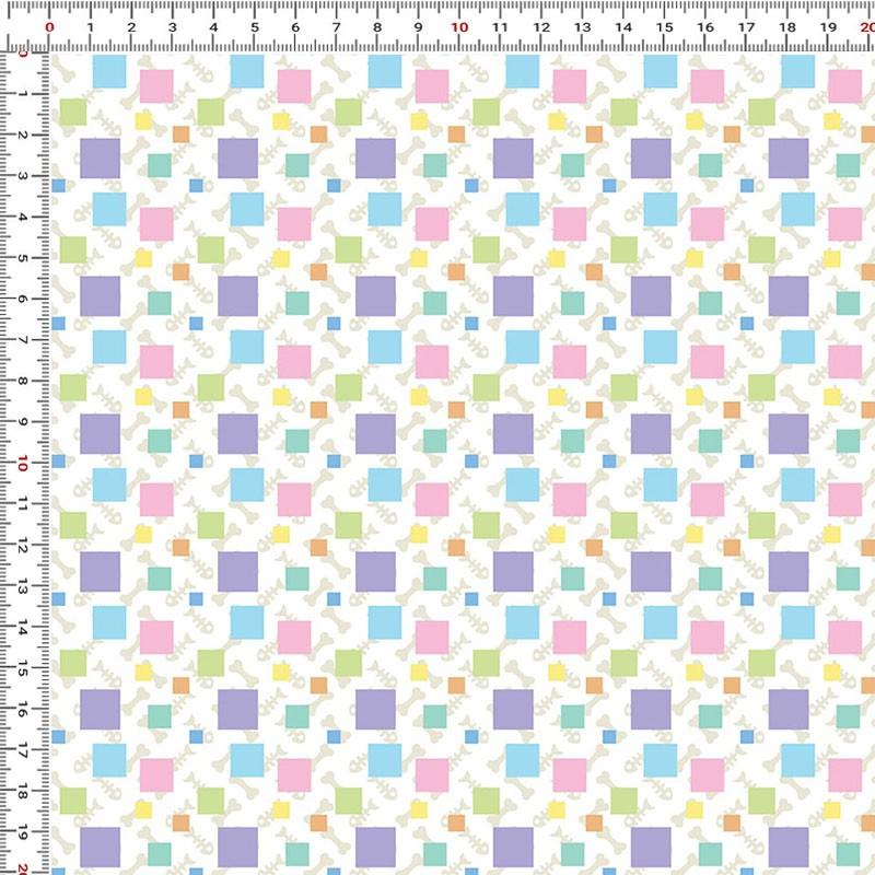 Casa Criativa Coleção Mi Pets - Geométricos - 50cm X150cm