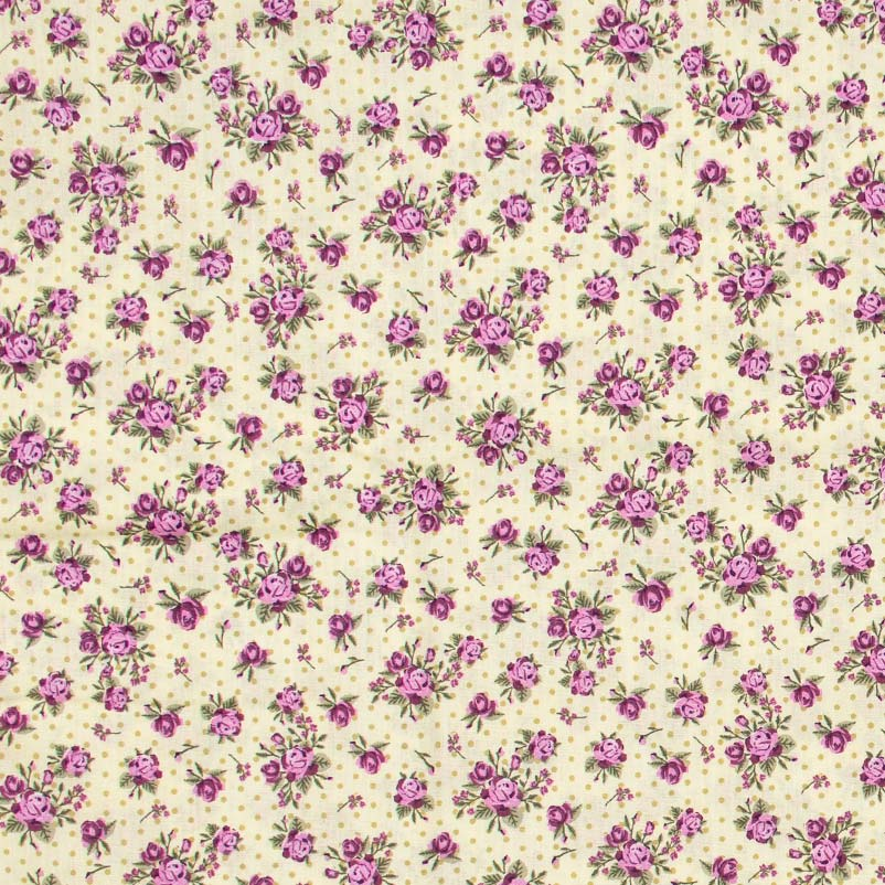 Estilotex - Flores Roxas Com Poá - 50cm x 150cm